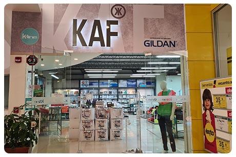 KAF, directorio de tiendas